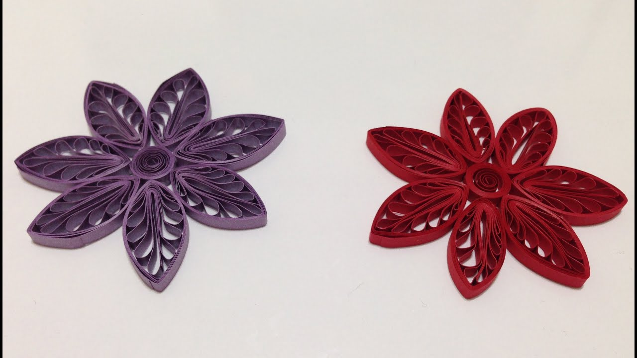 quilling flowers using comb tutorial