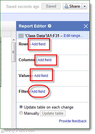 google docs pivot table tutorial
