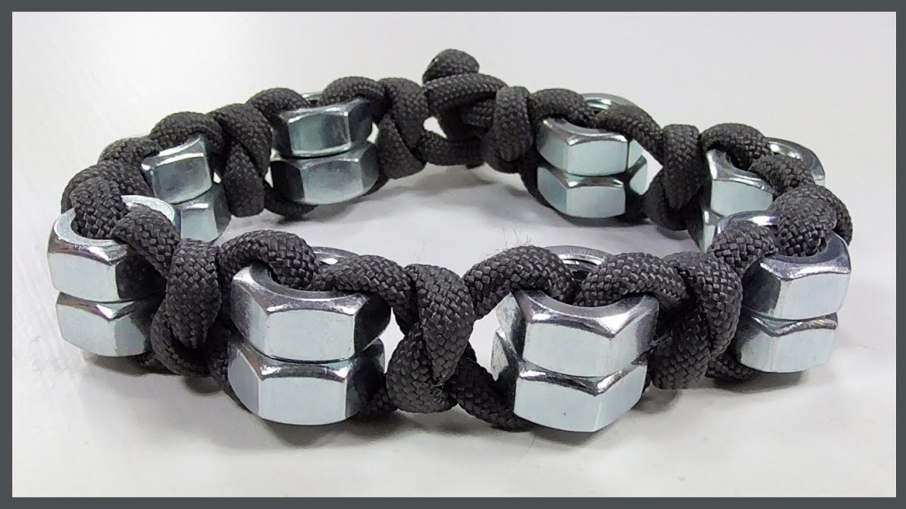 hex nut bracelet tutorial