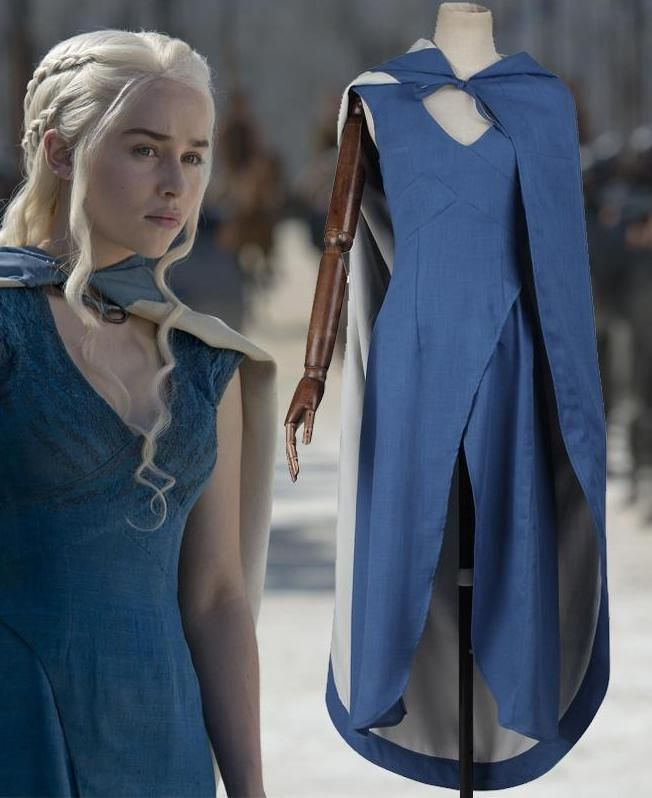 daenerys blue dress tutorial