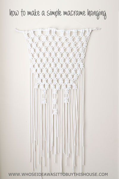 mini macrame wall hanging tutorial