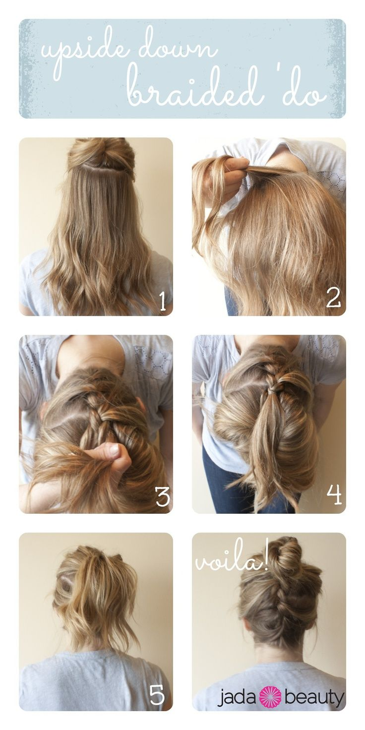 upside down braid bun tutorial