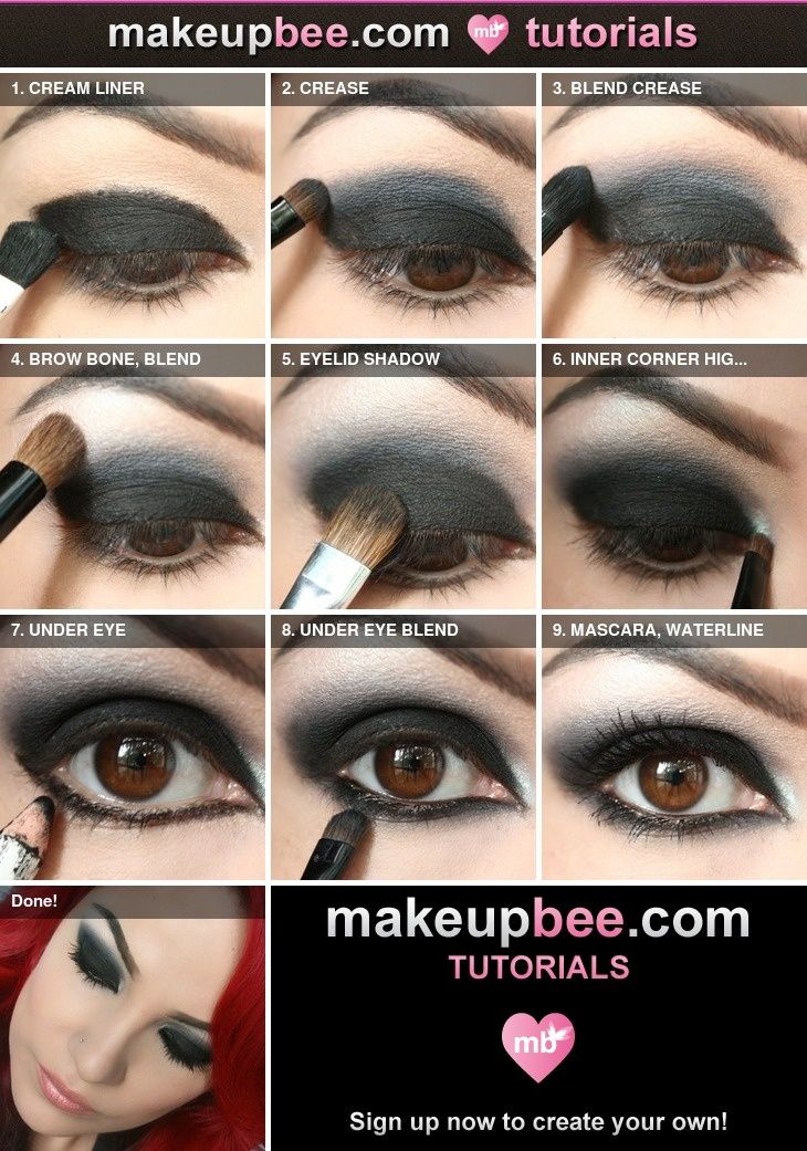simple black smokey eye tutorial