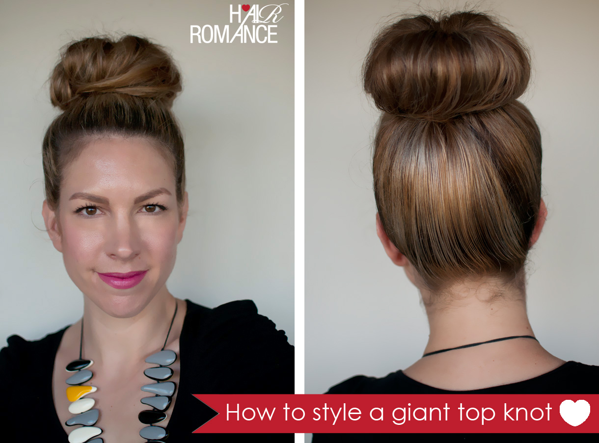 top knot tutorial short hair