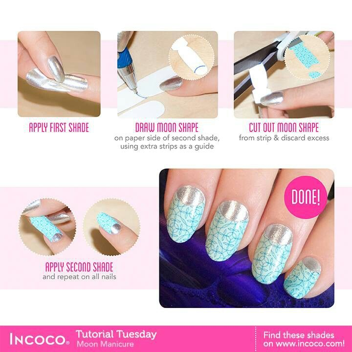 reverse french manicure tutorial