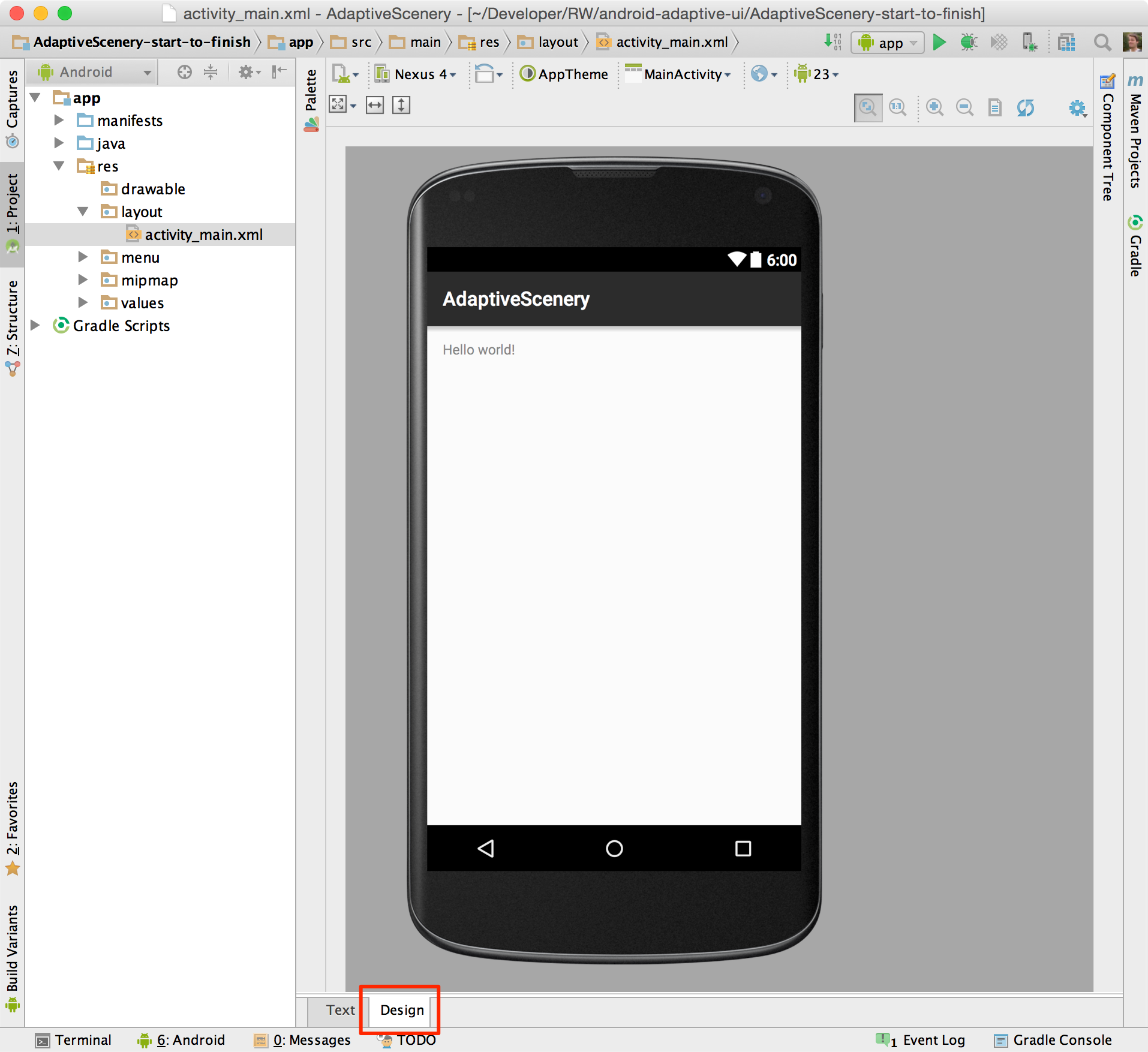 android tabbed activity tutorial