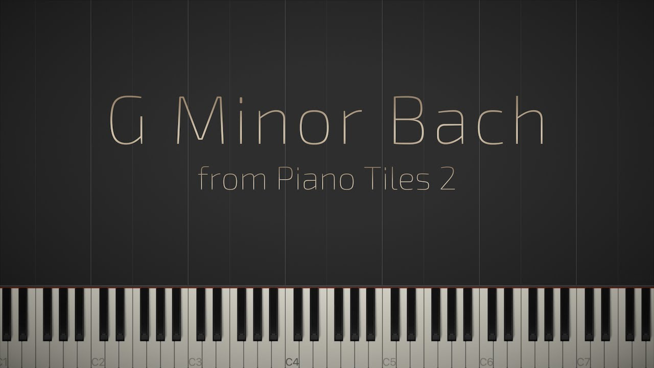 g minor bach piano tutorial
