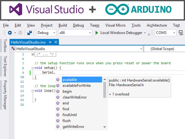 visual studio arduino tutorial